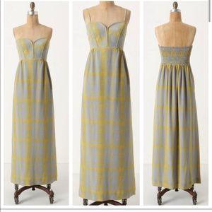 ANTHRO MAPLE | Strapless Maxi Dress Silk Size 4